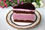 шоколадный торт с муссом Чёрная смородина и белый шоколад