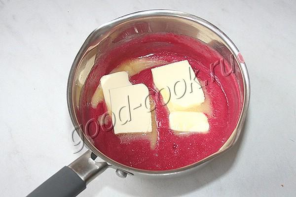 клюквенный крем на сливочном сыре