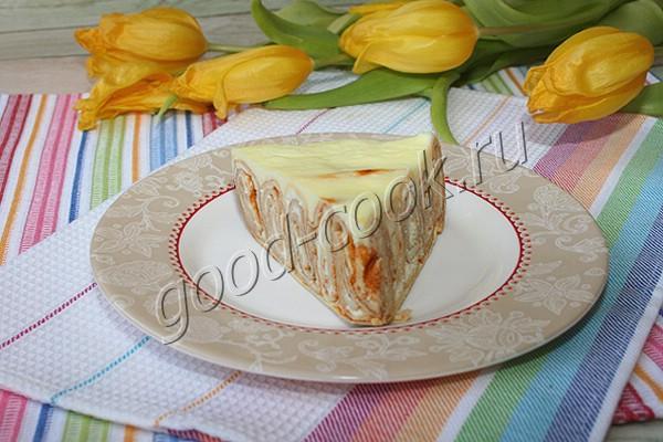 блинный рулетный пирог с творогом