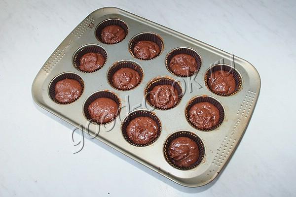 шоколадные кексы (с добавлением манной каши)