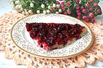 вишнёвый пирог в сковороде