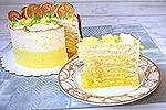 торт Лимонная Молочная девочка с градиентом
