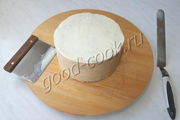 """торт """"Лимонная Молочная девочка"""" с градиентом"""