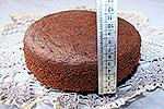 шоколадный бисквит (с добавлением манной каши)
