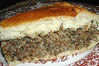 Пирог с грибами и гречкой