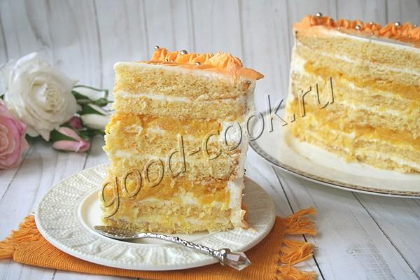 """торт """"Апельсиновая Молочная девочка"""" с начинкой"""