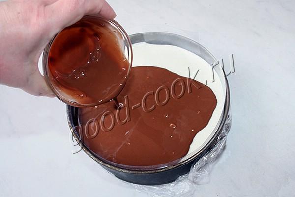 творожный муссовый торт с шоколадным бисквитом на рисовой муке