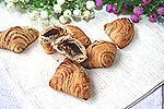 слоёное печенье Ракушки с шоколадом