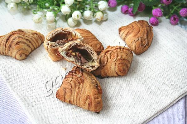 "Слоёное печенье ""Ракушки"" с шоколадом"