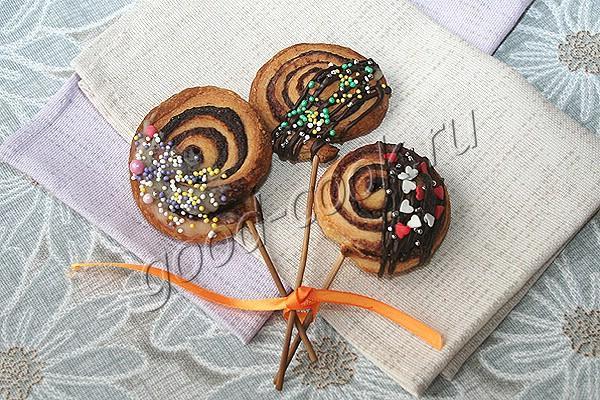 """слоёное печенье """"Спирали"""""""