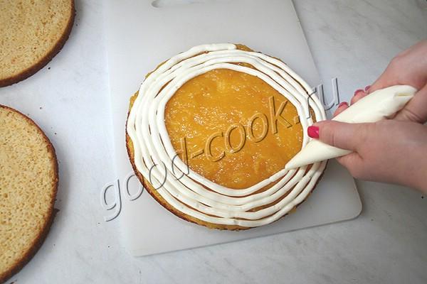 """торт """"Лимонные полоски"""" (""""Lemon strips"""")"""