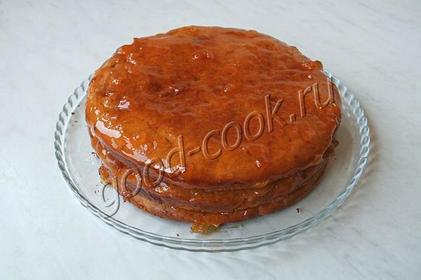 финиковый торт с апельсиновым джемом