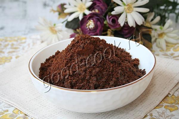 шоколадно-карамельная земля (для декора)