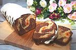 мраморный кекс с курагой и шоколадом