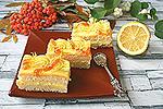 бисквитные пирожные с лимонным кремом