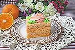 простой бисквитный торт с апельсиновым кремом