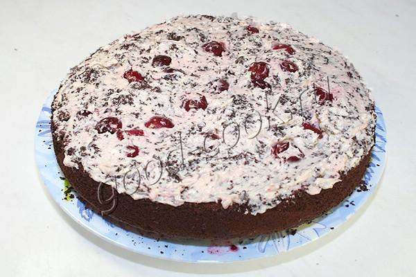 видео рецепт торта пьяная вишня