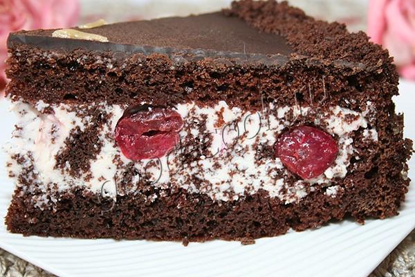 Рецепт торта зимняя вишня в домашних условиях 619