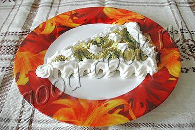 творожный пирог с киви