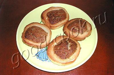 печенье с ореховой серединкой