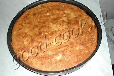 двойной творожный пирог с персиками