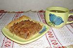 открытый ореховый пирог
