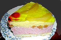 торт двухцветный творожно-сливочный