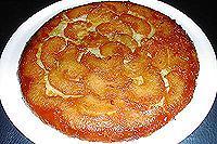 перевернутый яблочно-апельсиновый пирог