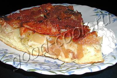 перевернутый яблочный пирог Лето