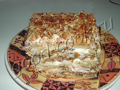 слоеный грибной пирог