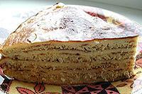 блинчатый пирог с мясом