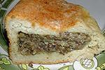 пирог с грибами (из картофельного теста)