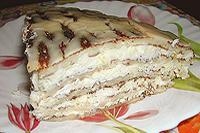 Блинчатый пирог с творогом и лимоном