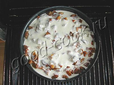 пирог с курагой в сметанной заливке