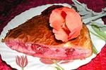мокрый слоеный пирог с вишней