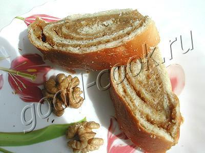 рецепт рулета с орехом