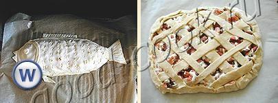 пирог из двух видов лосося