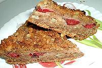 сливовый пирог с печеньем