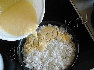 яблочно-рисовая запеканка