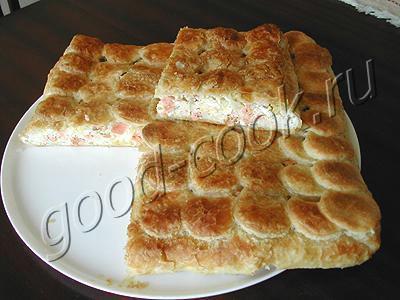 пирог с лососем рецепт
