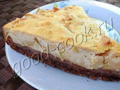 Заливка для пирога с яблоками
