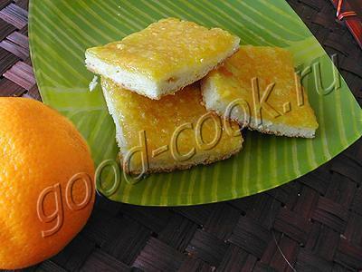 тонкий цитрусовый пирог