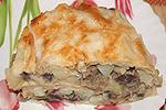 пирог из лаваша с куриными желудками