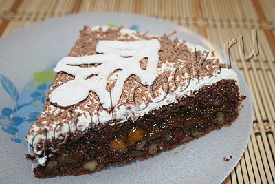 """торт """"Полярная ночь"""""""