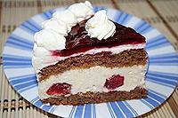 """творожно-вишневый торт """"Очарование"""""""