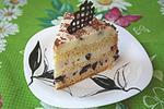 торт со сметанным суфле и черносливом