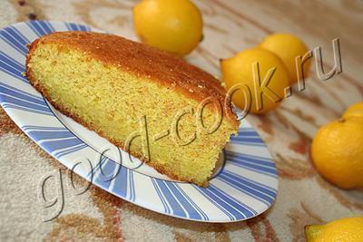 простой лимонный пирог