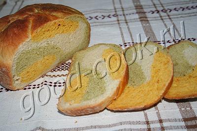 """хлеб """"Радуга"""" с морковью и брокколи"""
