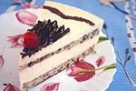 торт с творогом и белым шоколадом
