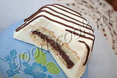 пирожное с творогом и белым шоколадом